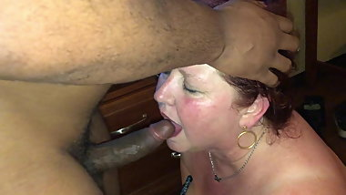 Sexy wife services a young black cock