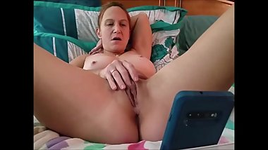Girlfriend Brittany MILF video chats masterbates cums and satisfies another pornhub fan